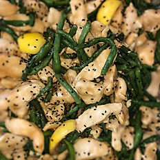 Lemon Sesame Chicken w/Green Bean Stir Fry