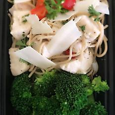 Chicken Spaghetti Aioli w/Fresh Parmesan