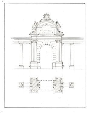 Entrance Through a Colonnade