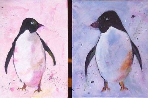 LRO 004 Pair of Penguins by Linda Roser