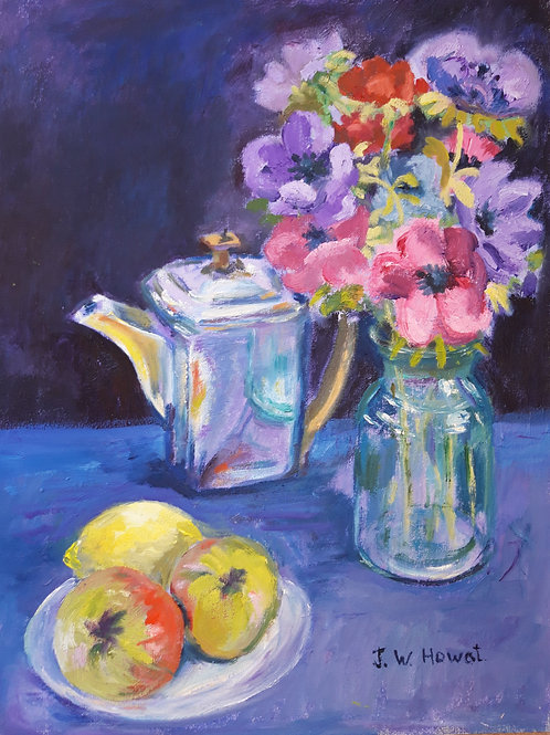 JOW 002 Still Life with Anemones by Joyce Howat