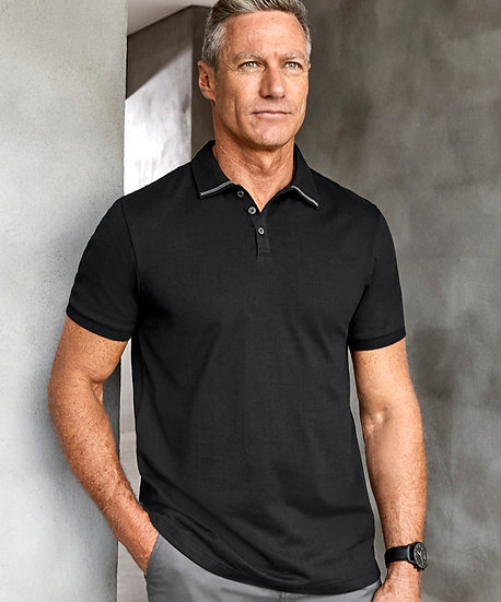 Mens Aston Polo with Embroidered Logo Left Chest