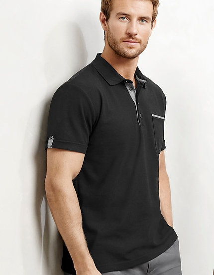 Mens Edge Polo with Embroidered Logo Left Chest