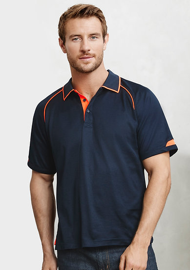 Mens Fusion Polo with Embroidered Logo Left Chest
