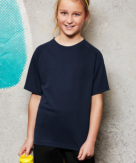 Kids Sprint Tee with Embroidered Logo Left Chest