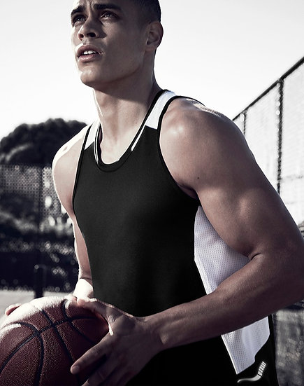 Mens Renegade Singlet with Embroidered Logo Left Chest