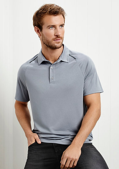 Mens Academy Polo with Embroidered Logo Left Chest