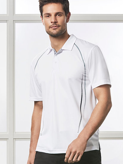 Mens Cyber Polo with Embroidered Logo Left Chest