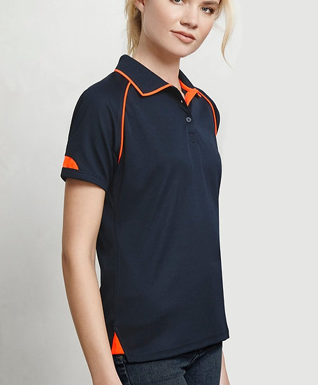 Ladies Fusion Polo with Embroidered Logo Left Chest