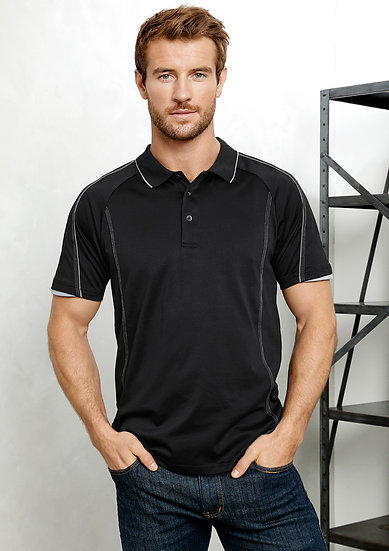 Mens Blade Polo with Embroidered Logo Left Chest
