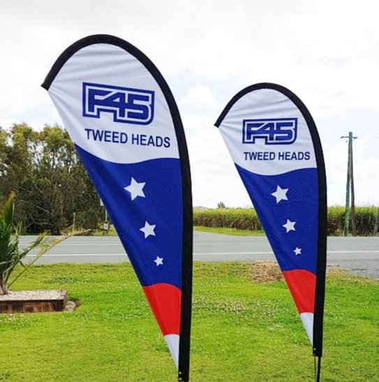 F45 Teardrop Flag Reskin Only (No Kit)