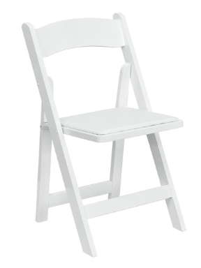 ashland event rentals white resin folding chair