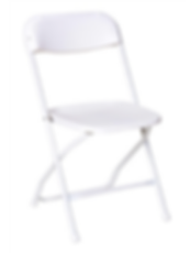 ashland event rentals white plasic folding chair rentals