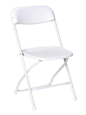 ashland event rentals white plasic folding chair rentals