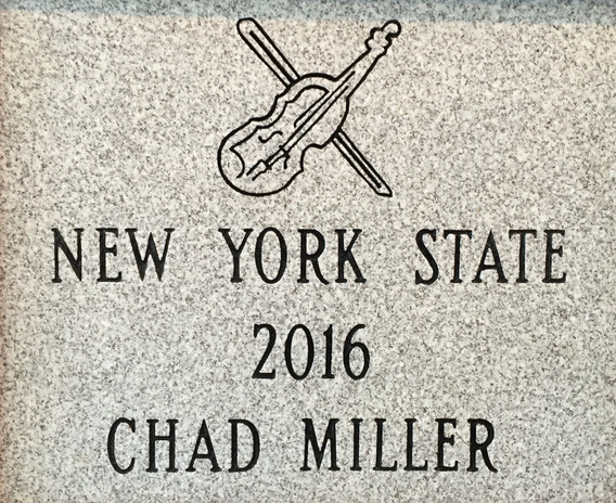 NYS Fiddlers Hall of Fame Stone Plaque.j