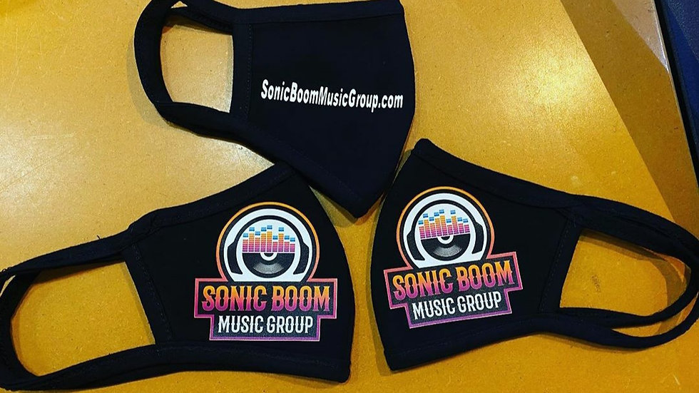 Sonic Boom Washable Face Mask