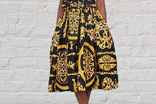 Golden Girl- Midi Skirt