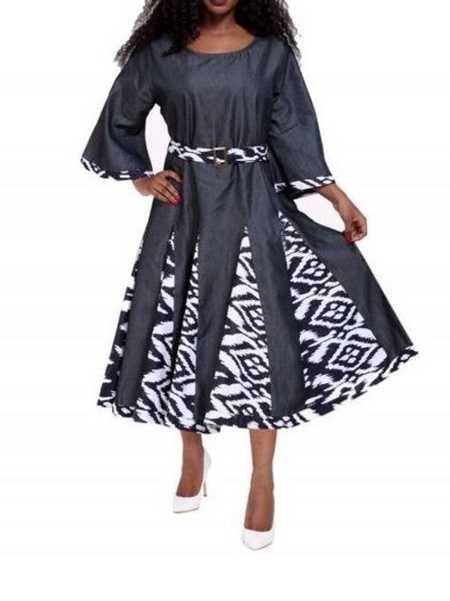 Lady in Stripes- Midi Dress