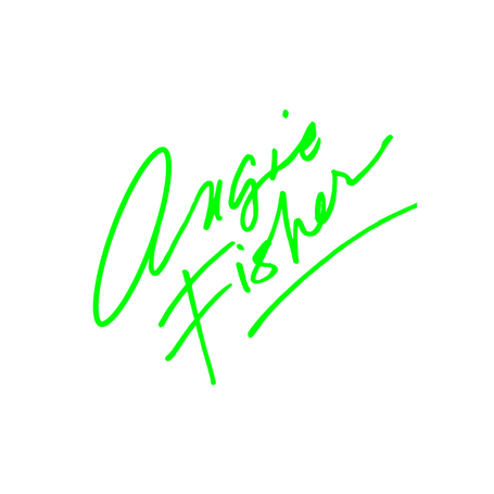 Angie Fisher logo Neon Green.png