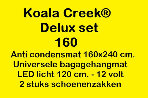 KOALA CREEK® Rooftop tent 160 DELUX set : Anti condens mat + bagage net + 2 scho