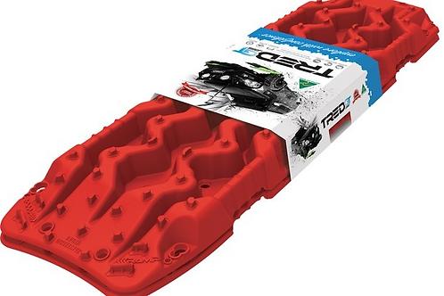 set (1 paar) TRED GT rijplaten - ROOD  - sandboards RED