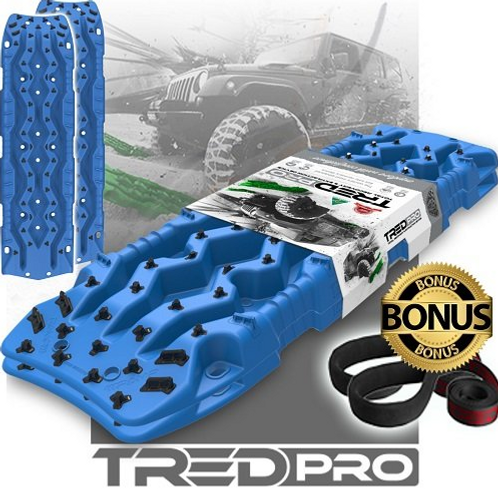 set (1 paar) TRED PRO BLAUW rijplaten - sandboards BLUE