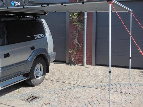 KOALA CREEK® EXPLORER luifel grijs 250x250 cm. Rip-Stop polyester/katoen