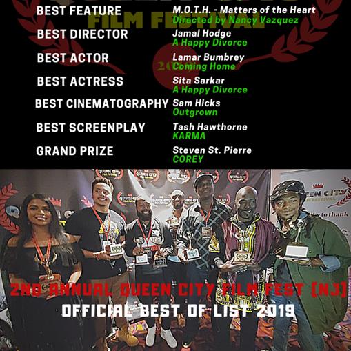 QCFFNJ19 Awards list