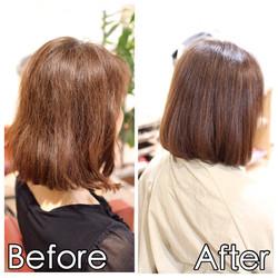 [50代女性]加齢による毛髪のクセ、髪質改善で対策♪