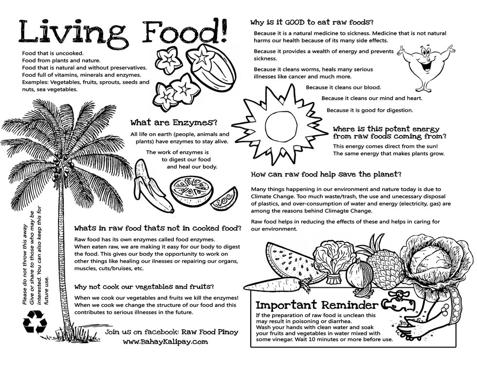 Living Food Guide in Evacuation Centers