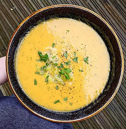 Leek & Sweet Potato Soup