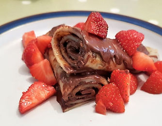 Rolled Nutella Crepes