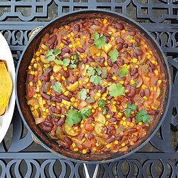 Spicy Beans & Sweet Potato