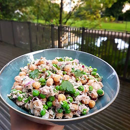 Chickpea, Tuna & Pea Salad