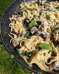 Mushroom & Spinach Tagliatelle