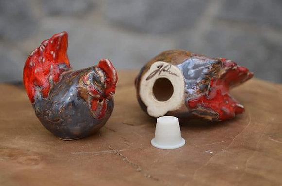 Kogut z kurką - solniczka - pieprzniczka