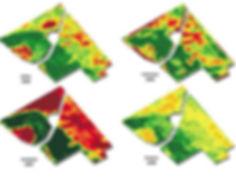Агро-Софт биомасса растений по одному полю в разные года