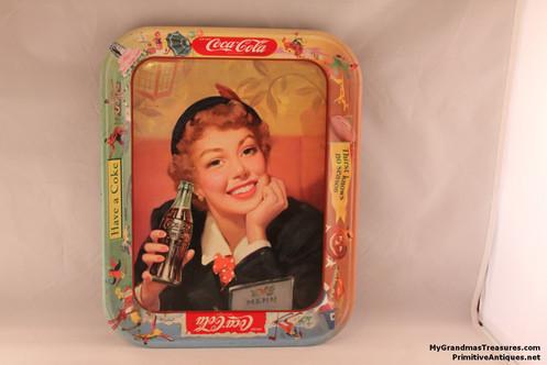 Stewardess Coca-Cola Tray 1940's-50's