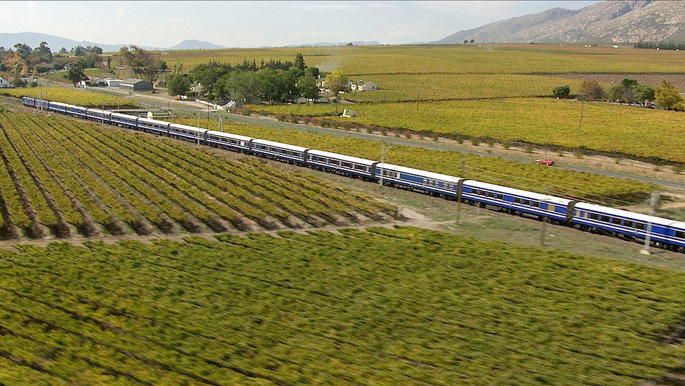 Blue Train crossing South Africa