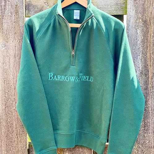 The Stembridge 'Heritage' 1/4 Zip - Bottle Green