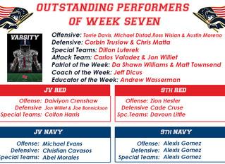 Outstanding Performers Week Seven
