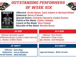 Outstanding Performers Week Six
