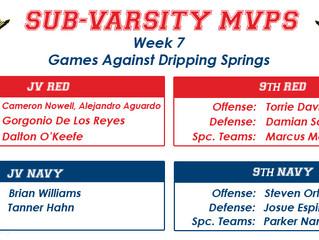 Sub-Varsity MVPs Week 7
