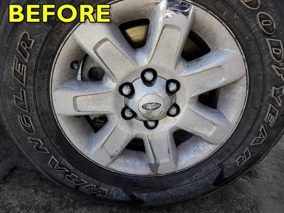Chrome Wheel Polish-Before