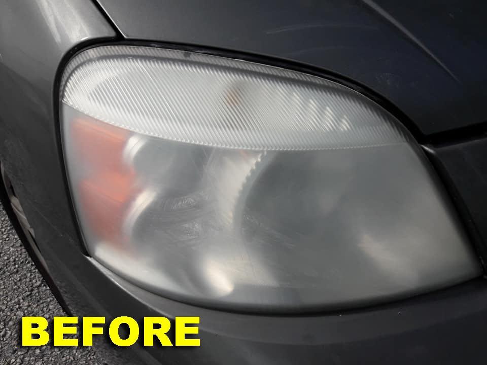 Headlight Restoration-Before