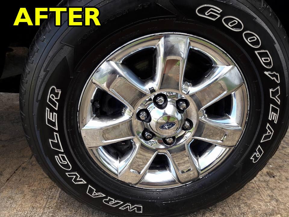 Chrome Wheel Polish-After