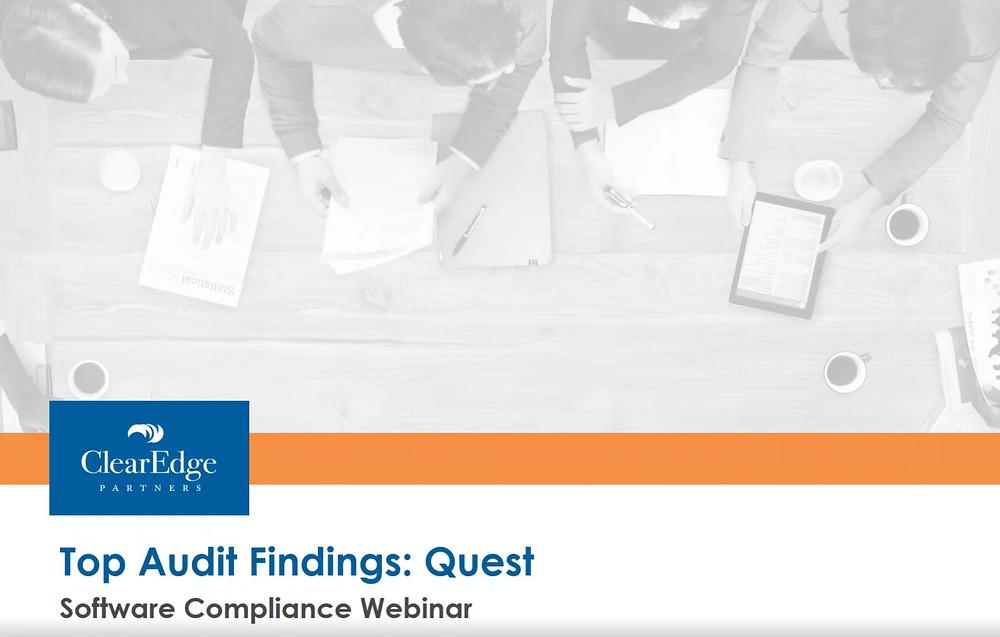 Top Findings in a Quest Audit: Re-Cap - Quest Audit