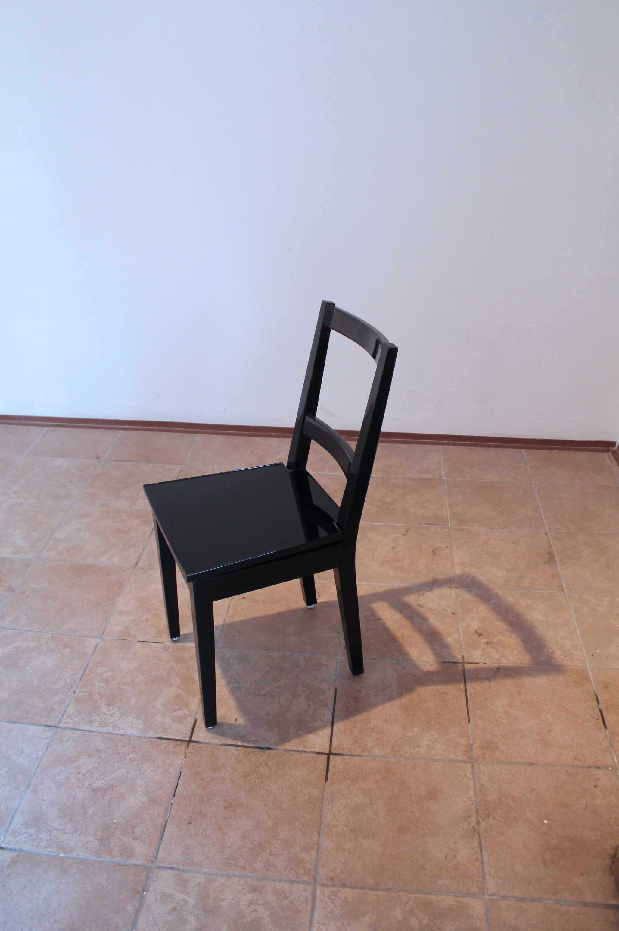 CHAIR, chair with seating part from black oil