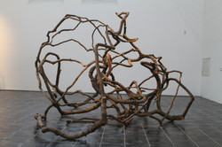 1. Wooden web, wood, metal