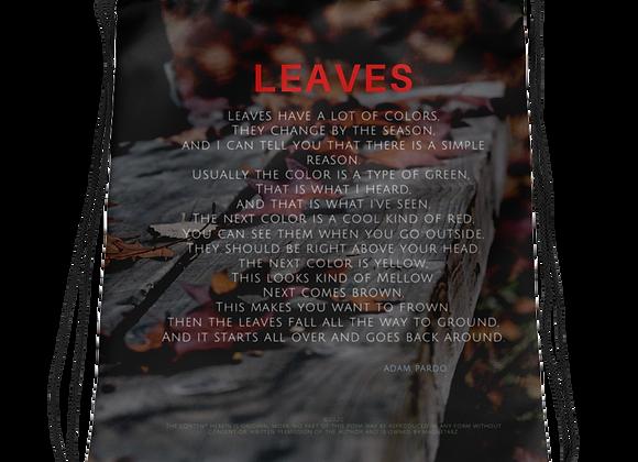 """Leaves"" Drawstring Bag"